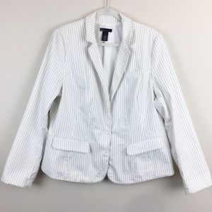 Lane Bryant Striped Blazer Sz18
